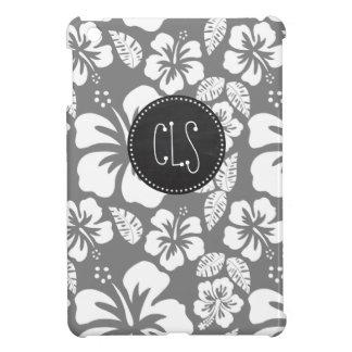 Gray Hawaiian Tropical Hibiscus; Retro Chalkboard Case For The iPad Mini