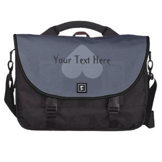 Gray Heart Anti-Valentine custom laptop bag