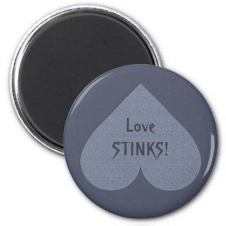 Gray Heart Anti-Valentine custom magnet