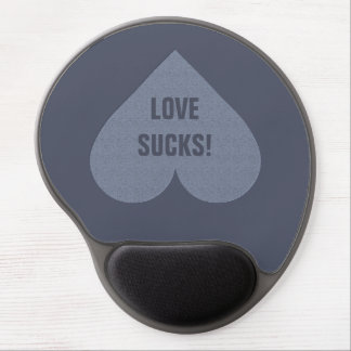 Gray Heart Anti-Valentine custom mousepad Gel Mouse Pad