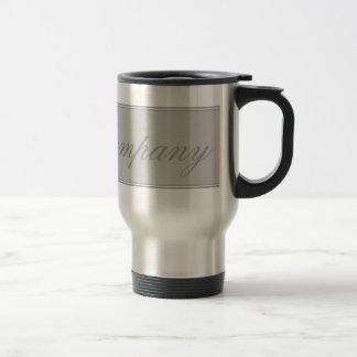 Gray Heart Damask Travel Mug