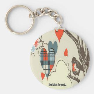 Gray heart design key chains