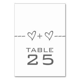 Gray Heart Equation Table Card