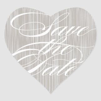 Gray Heart  |  Save the Date Envelope Seal Heart Sticker