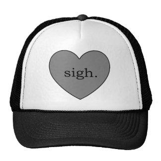 Gray Heart Sigh Trucker Hat