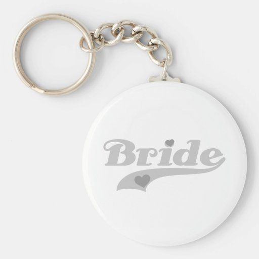 Gray Hearts Bride Keychain