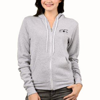 Gray Heather Hoodie with Strong Spirit Path logo