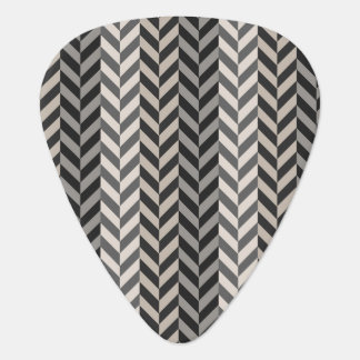 Gray Herringbone Alternating Stripes Pattern Pick