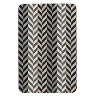 Gray Herringbone Alternating Stripes Pattern Rectangle Magnet