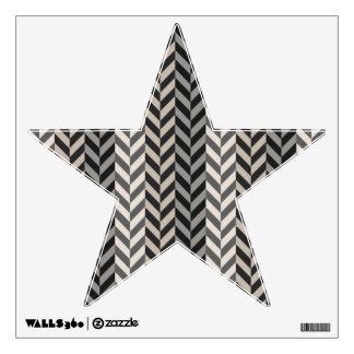 Gray Herringbone Alternating Stripes Pattern Wall Decal