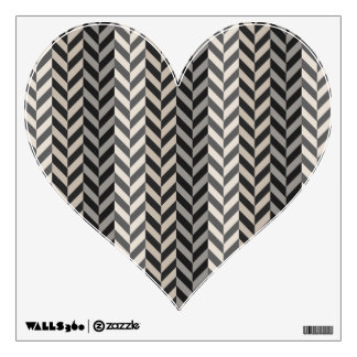 Gray Herringbone Alternating Stripes Pattern Wall Sticker