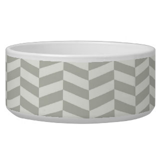 Gray herringbone bowl