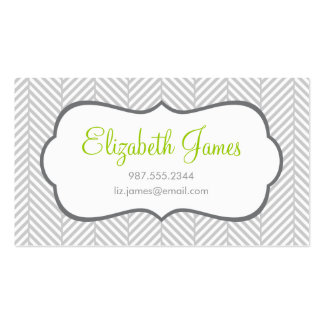 Gray Herringbone Double-Sided Standard Business Cards (Pack Of 100)