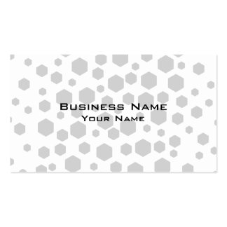 Gray Hexagons. Double-Sided Standard Business Cards (Pack Of 100)
