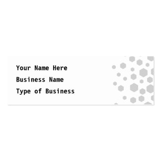 Gray Hexagons. Double-Sided Mini Business Cards (Pack Of 20)