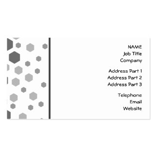 Gray Hexagons Pattern. Double-Sided Standard Business Cards (Pack Of 100)