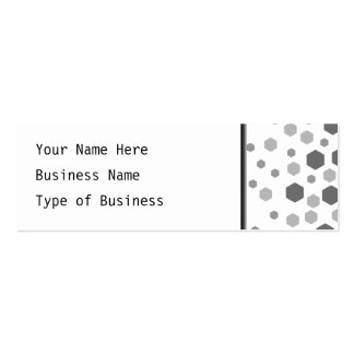 Gray Hexagons Pattern. Mini Business Card