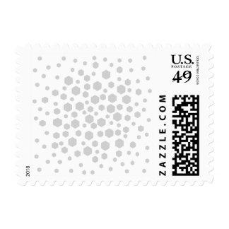 Gray Hexagons. Postage