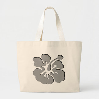 gray hibiscus aloha flower bags