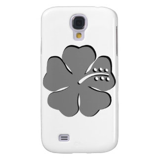 gray hibiscus aloha flower galaxy s4 covers