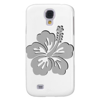 gray hibiscus aloha flower samsung galaxy s4 cover