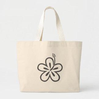 gray hibiscus bags
