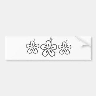 gray hibiscus bumper sticker