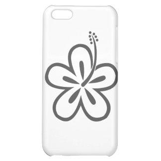 gray hibiscus case for iPhone 5C