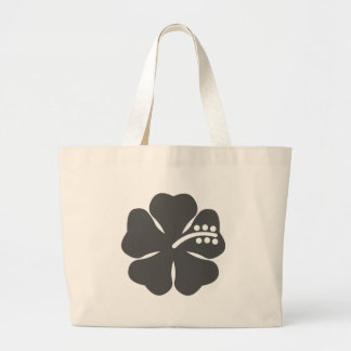 Gray hibiscus design bag