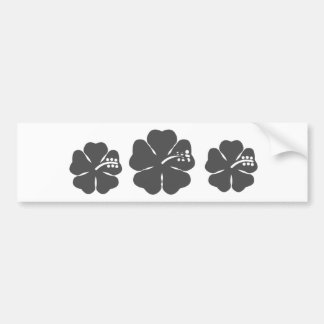 Gray hibiscus design bumper sticker