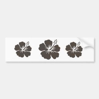 Gray hibiscus flower bumper sticker