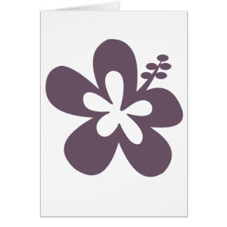 Gray Hibiscus Flower Greeting Card