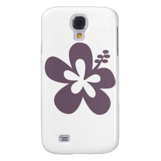 Gray Hibiscus Flower Samsung Galaxy S4 Cases