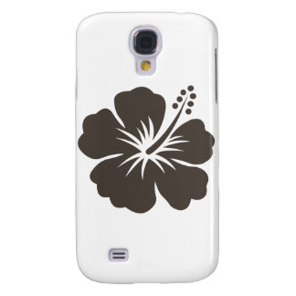 Gray hibiscus flower samsung galaxy s4 cover