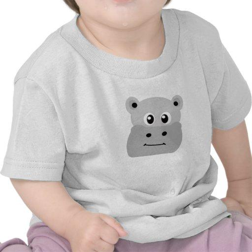 Gray Hipppo Infant Baby Shirt