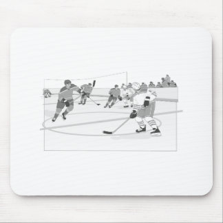 Gray Hockey Rink Mouse Pad