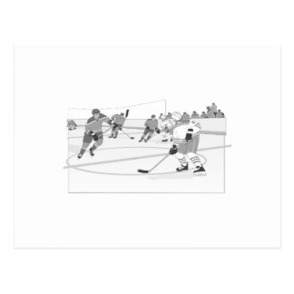 Gray Hockey Rink Postcards