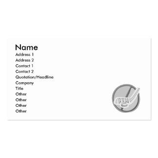 Gray Hockey stick & Puck Business Card