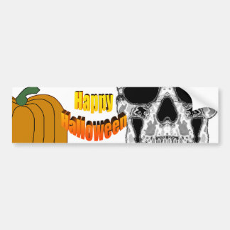 Gray Hollow Skull with Sunglasses Eyes Bumper Stickers