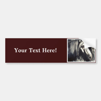 Gray Horse Bumper Sticker