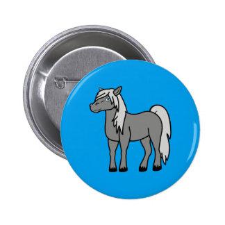 Gray Horse Button