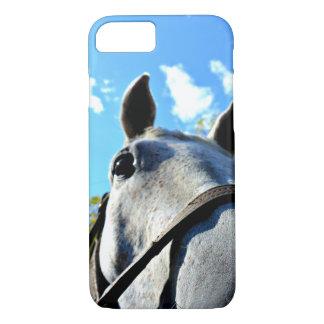 Gray Horse Face iPhone Case