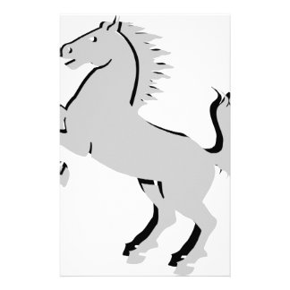 Gray Horse gift for him Stationery Design
