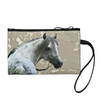 Gray Horse Head Change Purse
