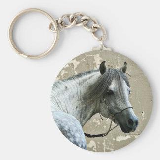 Gray Horse Head Keychain
