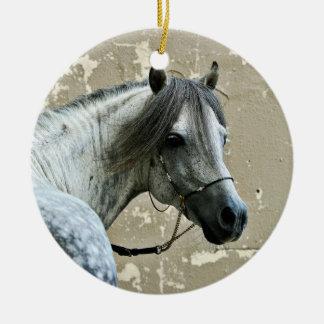 Gray Horse Head Ornaments