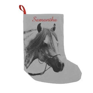 Gray Horse Head Small Christmas Stocking