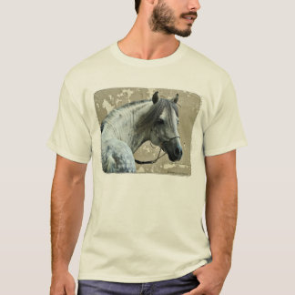 Gray Horse Head T-Shirt