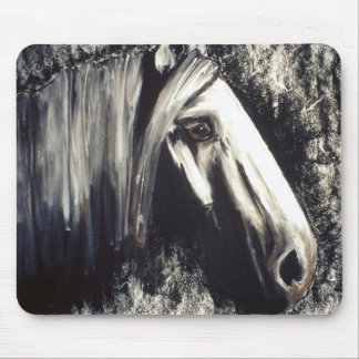 Gray Horse Mouse Pad