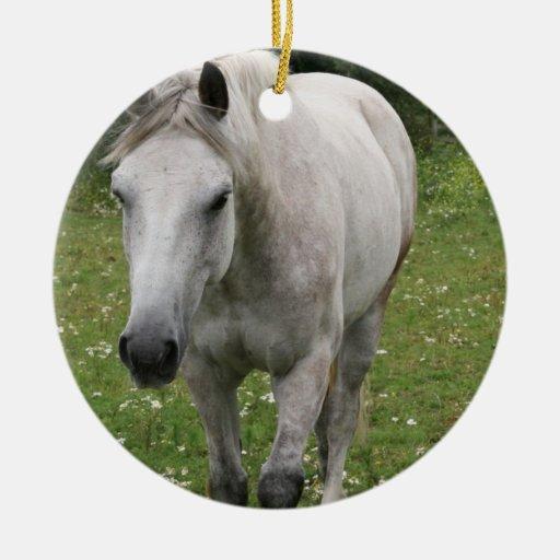 Gray Horse  Ornaments